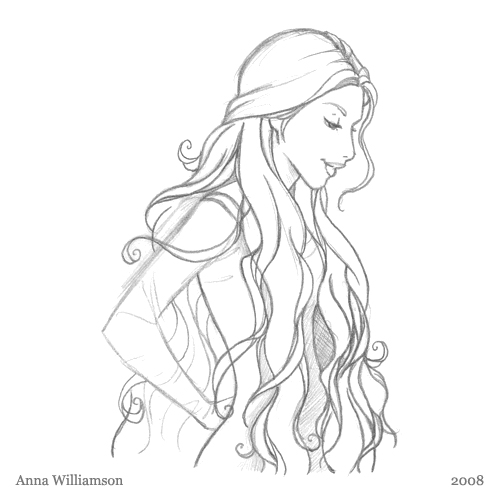 Pencil Sketch Hair Anna Williamson